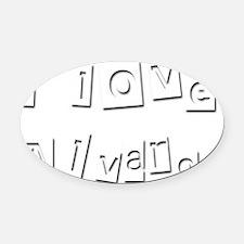 I Love Alvaro Oval Car Magnet