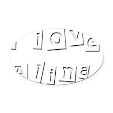 I Love Alina Oval Car Magnet