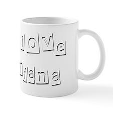 I Love Briana Small Mug