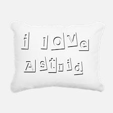 I Love Astrid Rectangular Canvas Pillow