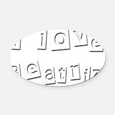 I Love Beatriz Oval Car Magnet