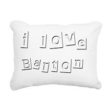 I Love Barton Rectangular Canvas Pillow