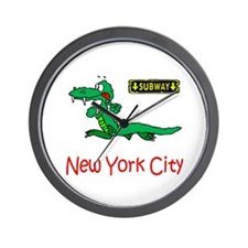 """""""CLICK HERE FOR NYC ALLIGATOR Wall Clock"""