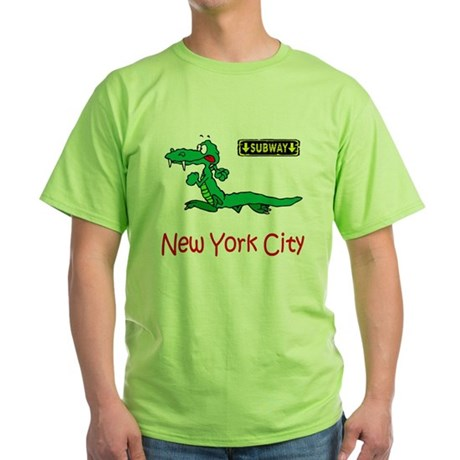 """""""CLICK HERE FOR NYC ALLIGATOR Green T-Shirt"""