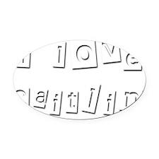 I Love Caitlin Oval Car Magnet