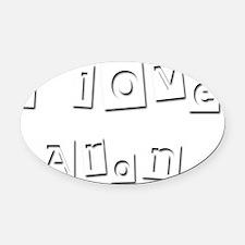 I Love Aron Oval Car Magnet