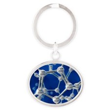 Molecular model Oval Keychain