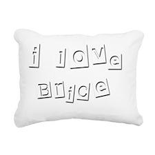 I Love Brice Rectangular Canvas Pillow