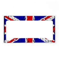 London - Union Jack (glass cu License Plate Holder
