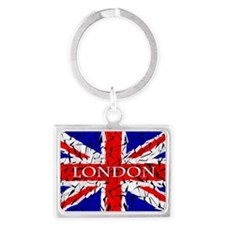 London - Union Jack (glass cutt Landscape Keychain