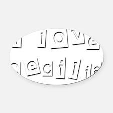 I Love Cecilia Oval Car Magnet
