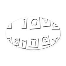 I Love Barney Oval Car Magnet