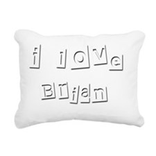 I Love Brian Rectangular Canvas Pillow