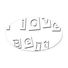 I Love Bert Oval Car Magnet