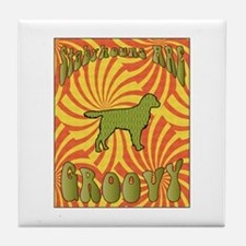 Groovy Stabyhouns Tile Coaster