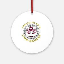 Hok San Lion Dance Round Ornament
