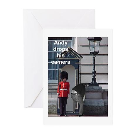 Andy drops his camera Greeting Cards (Pk of 10