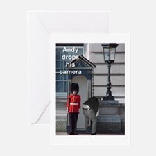 Andy drops his camera Greeting Cards (Pk of 10