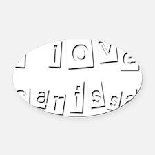 I Love Carissa Oval Car Magnet