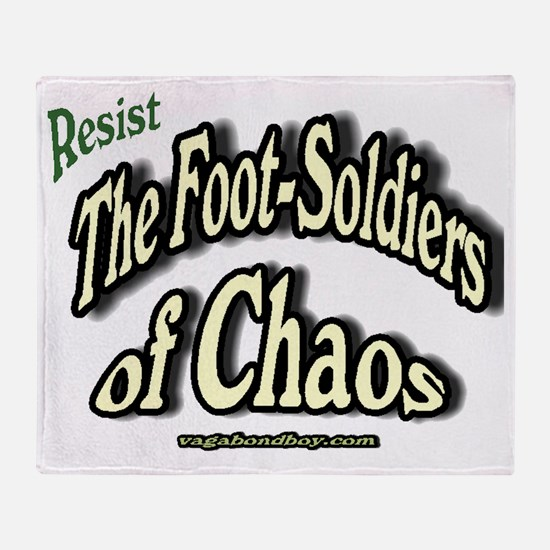 The Footsoldiers of Chaos Throw Blanket