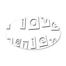 I Love Carley Oval Car Magnet