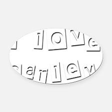 I Love Carley Oval Car Magnet