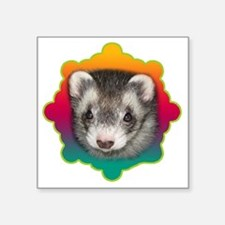 "Ferret Sable Square Sticker 3"" x 3"""