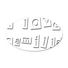 I Love Camilla Oval Car Magnet