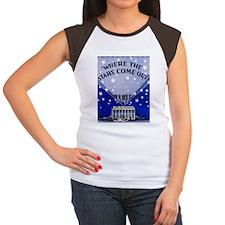 Where the stars come ou Women's Cap Sleeve T-Shirt