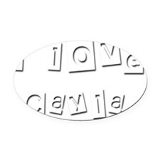 I Love Cayla Oval Car Magnet