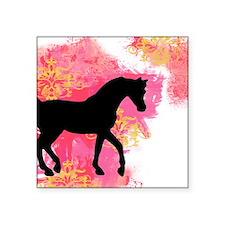 "Arabian Horse Square Sticker 3"" x 3"""