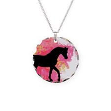 Arabian Horse Necklace Circle Charm