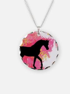 Arabian Horse Necklace Circle Charm