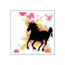 "Running Horse Square Sticker 3"" x 3"""