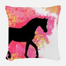 Arabian Horse Woven Throw Pillow