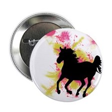 "Running Horse 2.25"" Button"