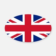 Union Jack Oval Car Magnet
