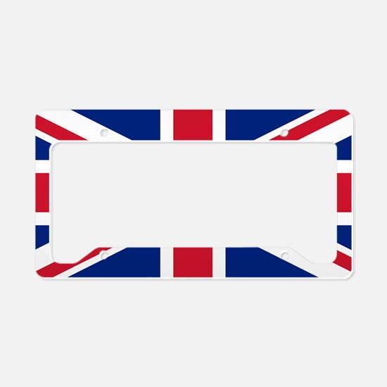 Union Jack License Plate Holder