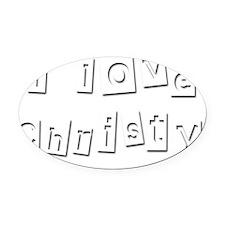 I Love Christy Oval Car Magnet