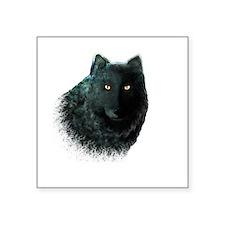 "Black Wolf Square Sticker 3"" x 3"""