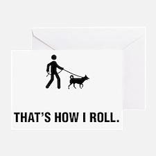 Dog-Walking-ABG1 Greeting Card