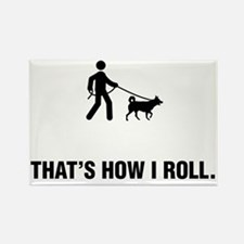 Dog-Walking-ABG1 Rectangle Magnet