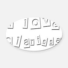 I Love Clarissa Oval Car Magnet