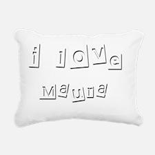 I Love Maura Rectangular Canvas Pillow
