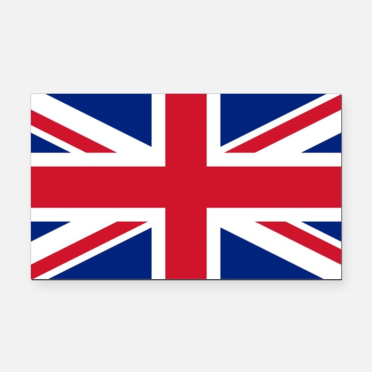 Union Jack Rectangle Car Magnet