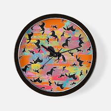 Colorful Horses Wall Clock