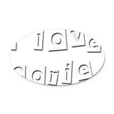 I Love Corie Oval Car Magnet