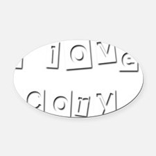 I Love Cory Oval Car Magnet