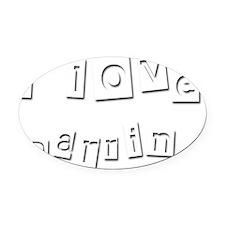 I Love Darrin Oval Car Magnet