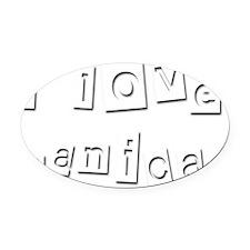 I Love Danica Oval Car Magnet